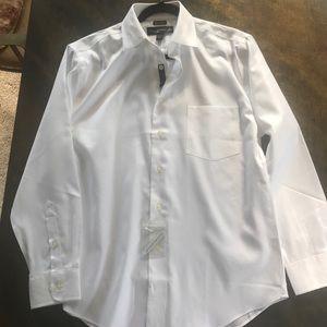 BNWT Pronto Uomo Mens 16 32/33 NonIron White Shirt